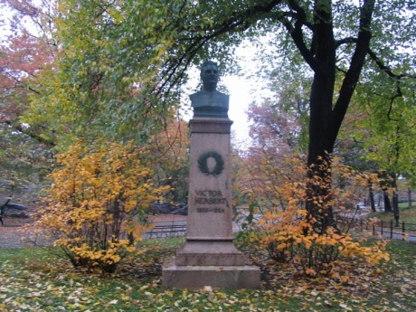 Bust of Victor Herbert in Central Park